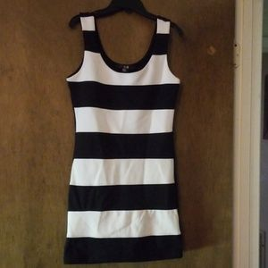 XXI Black & White Striped Mini Dress